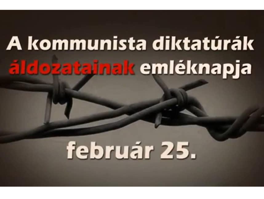 Read more about the article Kommunista diktatúrák áldozatainak emléknapja