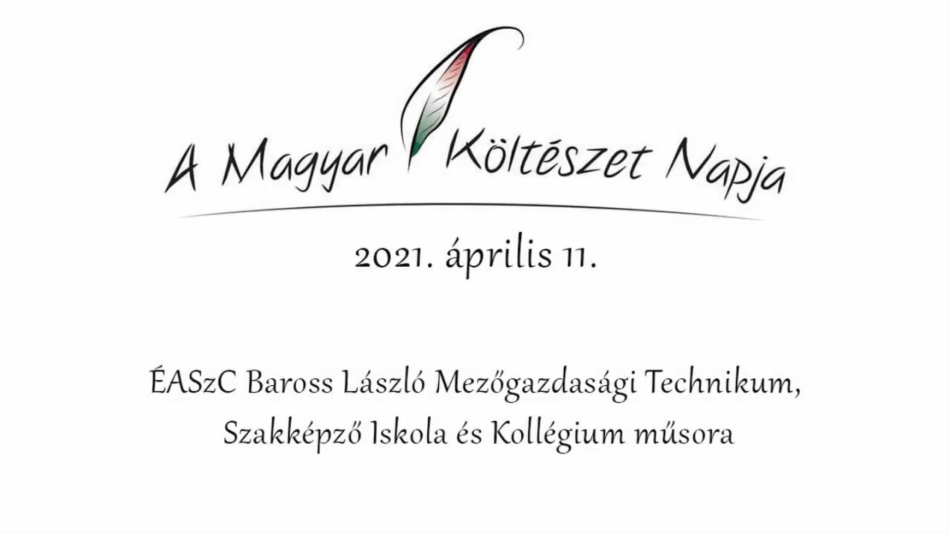 Read more about the article A Magyar Költészet Napja – 2021. április 11.
